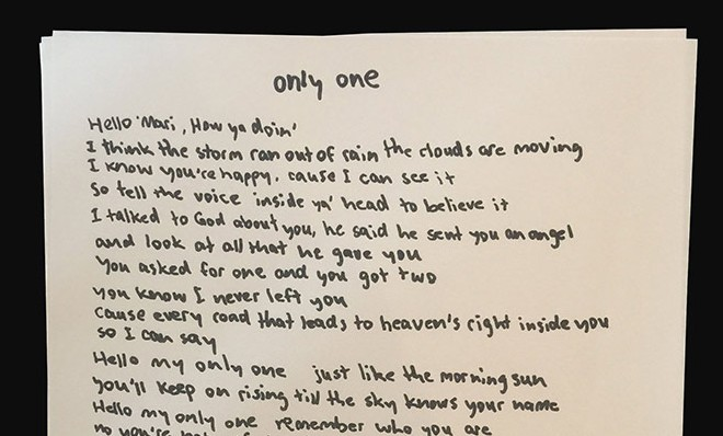 kanye-only-one-lyrics
