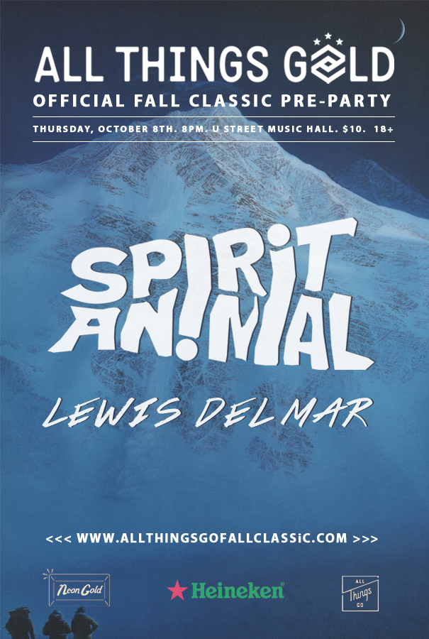 Fall Classic Preparty: Spirit Animal, Lewis Del Mar | All Things Go
