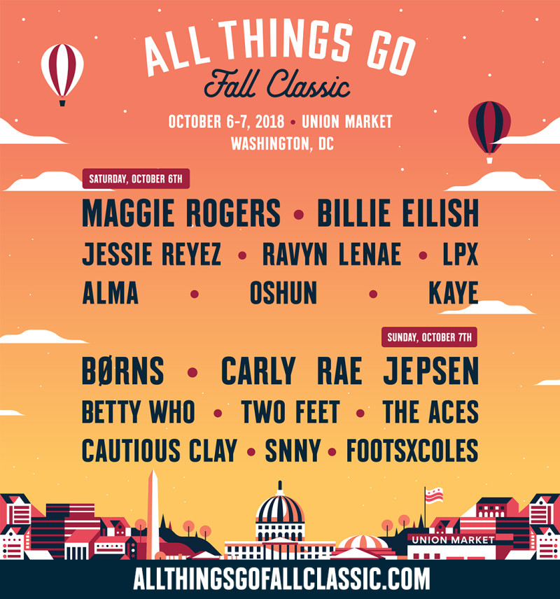 All Things Go Fall Classic 2018 Lineup