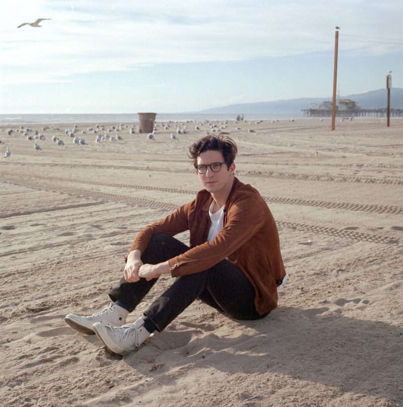 Dan Croll on the beach